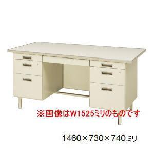 日本製・完成品 100CGシリーズ 両袖机・両袖デスク W1460×D730×H740ミリ 100CG-821N 【配達地域限定送料無料】【配達地域外はお客様組立】|office