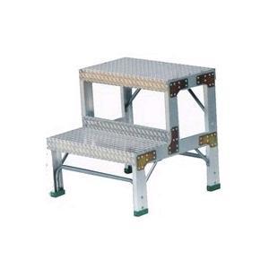 ナカオ 作業用踏台(アルミ合金製) 全高0.6m G-062 【送料無料】|office