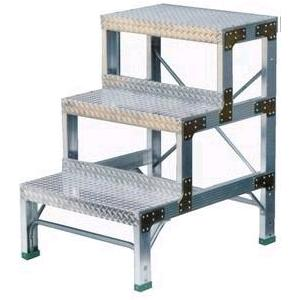 ナカオ 作業用踏台(アルミ合金製) 全高0.9m G-093 【送料無料・代金引換不可】|office