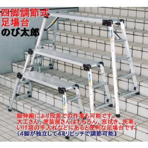 ナカオ のび太郎(四脚調節式 足場台) 垂直高0.64〜0.98m IRN130-10 【送料無料】|office
