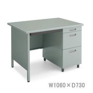 コクヨ 事務用デスクSR型 旧JIS規格 片袖デスク 3段側面パネル付 W1060×D730×H740ミリ SD-SR5S3PNN 【送料無料】|office