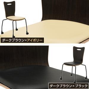 法人様限定 ミーティングチェア 会議用チェア キャスター付き スタッキングチェアプライウッドチェア 4脚セット チェア 椅子 アメーボ|officecom|06