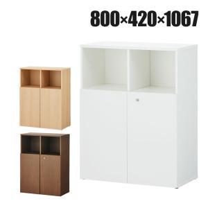 2列3段両開きキャビネット。左右の棚が別々に可動するので、不定形サイズなものもすっきり収納できます。...