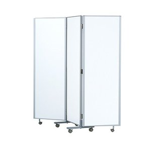 3連折りたたみ パーティション パーテーション スチール製 ホワイト マグネットバー2本付き/IK-RM3-SWH|officecom
