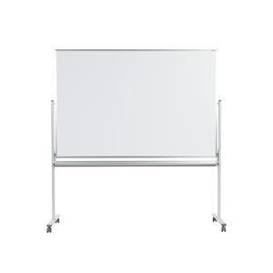 映写対応脚付ホワイトボード 片面:映写対応 片面:無地 メラミンフォームイレーザー1個、マーカー(黒・赤)各1本、マグネット2個付 国産 幅1926×高さ1990mm|officecom