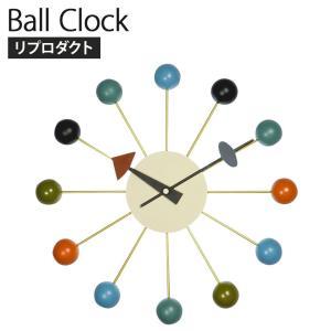 ボールクロック ジョージ・ネルソン リプロダクト 素材:ソリッドウッド/スチール 幅330×奥行70...