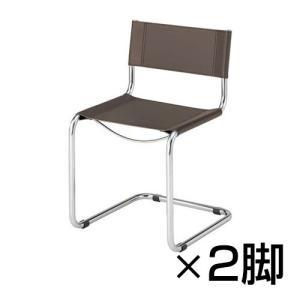 2脚セット カンチレバーレザーチェア シンプル構造 スタイリッシュ 幅480×奥行538×高さ790mm|オフィス家具通販のオフィスコム