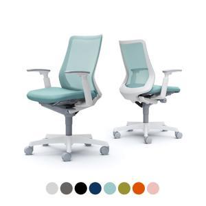 オカムラ チェア フルーエント fluent デスクチェア オフィスチェア 椅子 ローバック アジャストアーム ホワイトボディ ナイロンキャスター CB81WW オフィス家具通販のオフィスコム