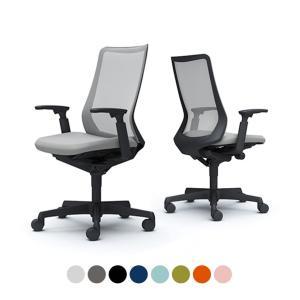 オフィスチェア オカムラ フルーエント fluent デスクチェア 椅子 ハイバック アジャストアーム ブラックボディ ナイロンキャスター CB85ZR オフィス家具通販のオフィスコム