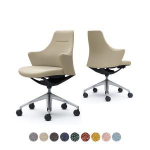 CD53BR ライブス ワークチェア Lives Work Chair オフィスチェア 事務椅子 ロータイプ 5本脚 ブラックボディ ポリッシュ脚 布張り インターロック (オカムラ)|オフィス家具通販のオフィスコム