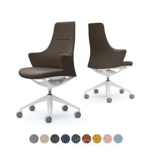 CD55WW ライブス ワークチェア Lives Work Chair オフィスチェア 事務椅子 ハイタイプ 5本脚 ホワイトボディ ホワイト脚 布張り インターロック (オカムラ)|オフィス家具通販のオフィスコム