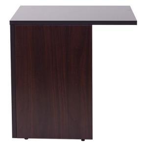 プラス NEXIS ネクシスデスク幅1800mm専用 サイドテーブル 幅580×奥行700×高さ720mm 左右兼用 【ダークウォルナット】|officecom