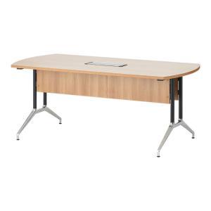 プラス OXシリーズ 応接会議テーブル 配線ボックス付き エグゼクティブテーブル ミーティングテーブ...