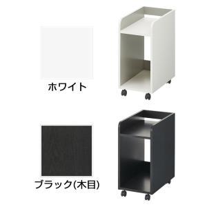 ペスパ 木製CPUワゴン OAワゴン パソコンスタンド キャスター付き ホワイト×グレー|officecom|03