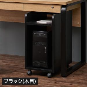 ペスパ 木製CPUワゴン OAワゴン パソコンスタンド キャスター付き ホワイト×グレー|officecom|05