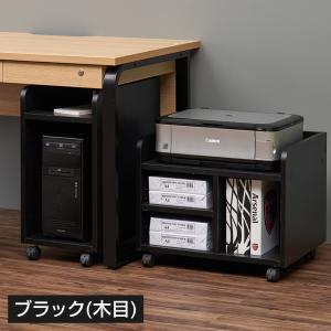 ペスパ 木製CPUワゴン OAワゴン パソコンスタンド キャスター付き ホワイト×グレー|officecom|06