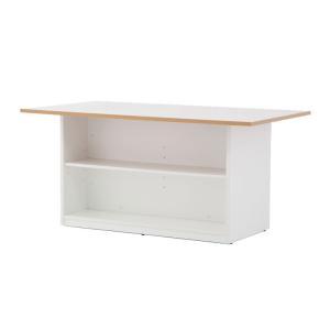 ・収納部には可動棚板2枚(各面1枚)付属、中央寄り64mmピッチ5段階からお好みの高さに設置できます...