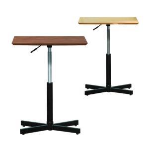 ・脚部にガスシリンダーを使用することで使用シーンに応じて簡単に天板高さを調整できるカフェテーブルです...