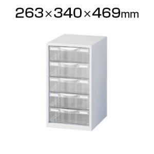 スチール製 A4判1列深型5段 書類整理ケース(卓上用)ホワイト プラスチック引出し 幅263×奥行340×高さ469mm オフィス キャビネット/SE-LW-P105L オフィス家具通販のオフィスコム