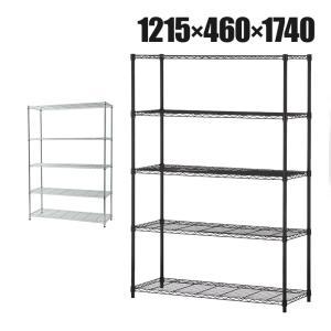 法人様限定 スチールラック 5段 可動棚 耐荷重500kg スチールワイヤーラック 収納棚 おしゃれ...