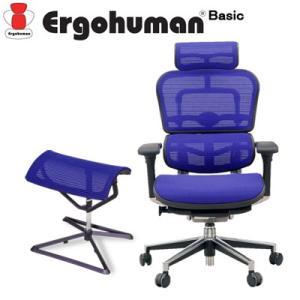 エルゴヒューマン ベーシック ハイタイプ オットマンセット ファブリックメッシュブルー SK-EH-HAM-O-KMD35 Ergohuman Basic