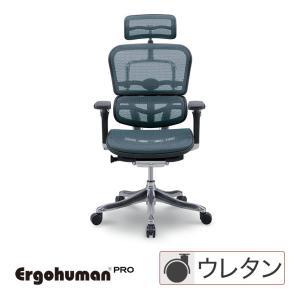 エルゴヒューマン プロ ハイタイプ エラストメリックメッシュブルー EHP-HAM-KM15 Ergohuman Pro