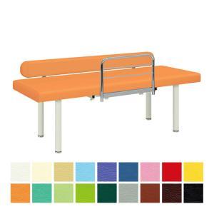 ●激しい施術でも安心感を与える転落防止ワイドレザーガード付き。 ●ベッドからの転落を防止するF型ベッ...
