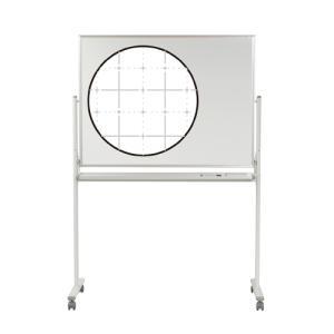 ホワイトボード/幅1210×高さ910mm・脚付暗線入両面・ホーロー/UM-MH34TDXN|officecom