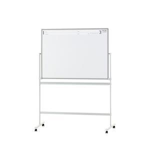 PLUS(プラス) ホワイトボード PASHABO(パシャボ) 1158×858mm 両面脚付き スチール製 スマホ対応 幅1280×奥行610×高さ1800mm|officecom