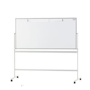 PLUS(プラス) ホワイトボード PASHABO(パシャボ) 1758×858mm 両面脚付き スチール製 スマホ対応 幅1880×奥行610×高さ1800mm|officecom