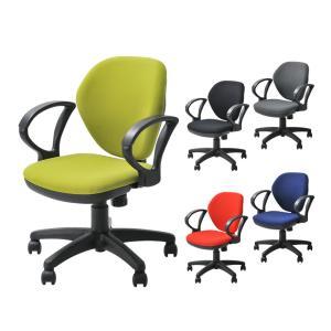 事務椅子 オフィスチェア パソコンチェア 布張り 肘付き ロッキング キャスター付 ワークスチェア|officecom