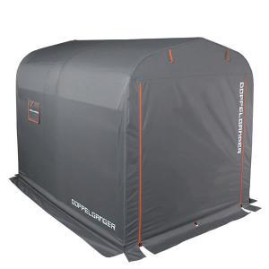 ドッペルギャンガー DOPPELGANGER ストレージバイクガレージ Lサイズ グレー×オレンジ DCC330L-GY|officekagu
