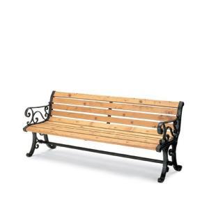 屋外用家具 屋外用ベンチ 背付 肘付 間伐材入りベンチシリーズ コクヨ PF-MC17NN officekagu