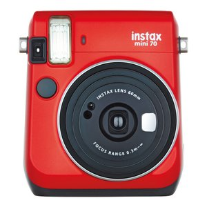 "FUJIFILM<富士フイルム> ""チェキ""instax mini70N レッド チエキカメラ INS MINI 70N RED