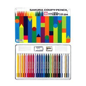 サクラクレパス クーピーペンシル 24色 缶入り FY24 オフィスランドPayPayモール店