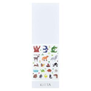 キングジム マスキングテープ KITTA キッタ シール アイコン(アニマル) KITD003