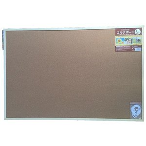 サンフレイムジャパン コルクボード(L) 60×90cm 付属品付き 500-2351 5002351|officeland