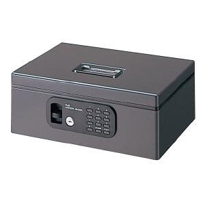 プラス(PLUS) 電子ロック(シリンダー錠付) 手提金庫 FL型 CB−020FL 12−835 ダークグレー|officeland