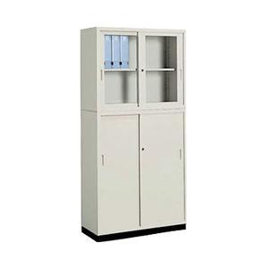 コクヨ<KOKUYO> A4保管庫セット ガラス戸&引き違い戸 セット(ベース・連結金具付)|officeland