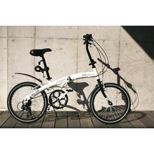 HANWA(阪和) WACHSEN<ヴァクセン>20インチアルミ折りたたみ自転車6段変速付 Weiβ...