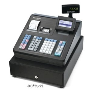 【お得なレジロール5巻付きセット】シャープ<SHARP>多機能電子レジスター XE-A407-B(XEA407B) ブラック 2シートブロック別キーボードタイプ officeland