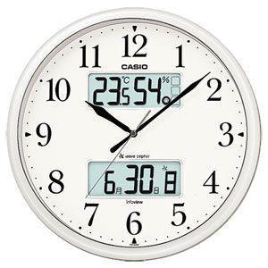 カシオ(CASIO) 壁掛け時計 パールシルバー 電波時計 ITM-660NJ-8JF|officeland