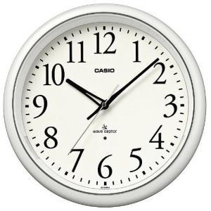 カシオ(CASIO) 壁掛け時計 パールホワイト 電波時計 IQ-1050NJ-7JF|officeland