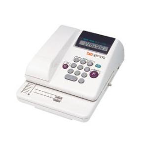 マックス MAX 電子チェックライター 累計機能搭載タイプ 12桁印字 EC-710 EC90014|officeland