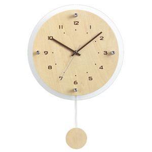 ノア精密 振り子付電波掛時計 インテリアクロック アンティール 壁掛時計:ナチュラル 木目 W-473 N|officeland