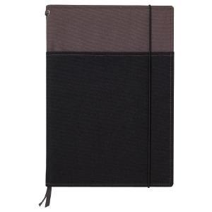 コクヨ<KOKUYO> SYSTEMIC<システミック> カバーノート(2冊収納・ベーシックタイプ) セミB5サイズ(6号) ノ-653A-1 グレー×黒|officeland