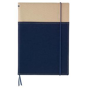 コクヨ<KOKUYO> SYSTEMIC<システミック> カバーノート(2冊収納・ベーシックタイプ) セミB5サイズ(6号) ノ-653A-4 ベージュ×紺|officeland