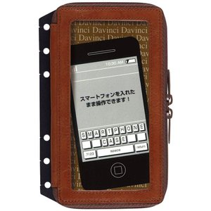 レイメイ藤井 Davinci(ダ・ヴィンチ) 6穴革製スマートフォンケース(M) DR289C ブラウン|officeland