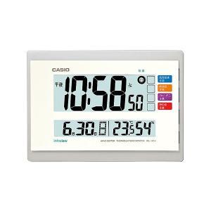 カシオ(CASIO) 電波掛け時計 IDL-140J-7JF 温度・湿度・日付・曜日表示付 電波時計(置き掛け兼用) ウェーブセプター(CASIO wave ceptor)|officeland