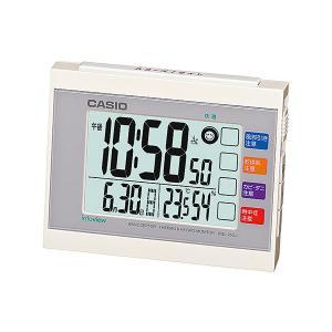 カシオ(CASIO) 電波目覚まし時計 DQL-210J-7JF ホワイト 生活環境お知らせ(湿度計 / 温度計) 電波時計(置き時計) ウェーブセプター(CASIO wave ceptor)|officeland